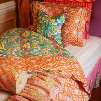 Gorgeous Ava Ruffled Twin Duvet Cover by AddisonsWonderland