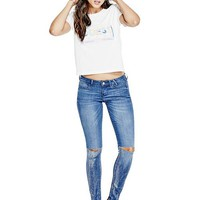 Skinny Knee-Slit Jeggings at Guess