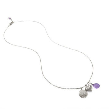 Celebration of Life Necklace • Amethyst • Silver
