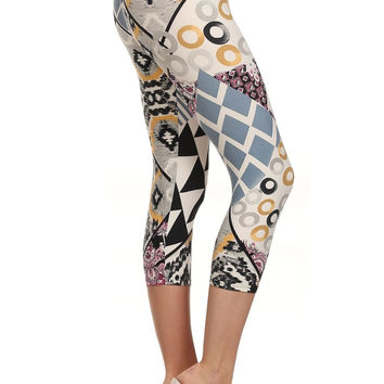 Always Metallic Silver Tribal Print Leggings