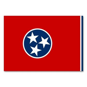 Patriotic table card with Flag of Tennessee