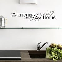 New Kitchen is Heart of the Home Letter Pattern Wall Decal