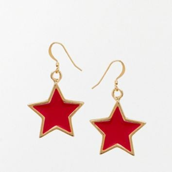Kenneth Jay Lane Star Earrings - Orange
