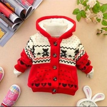 Hot Sale 2018 Winter Baby Clothing Newborn Thicken Cotton Padded Clothes Coat Infant Kid Wadded Jacket  Boys Girls Outerwear G90