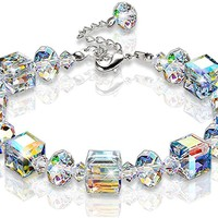 "Bracelet ""A Little Romance"" Adjustable Crystal Bracelet 7""- 9"" Swarovski Crystal Graduation Gifts for Her"