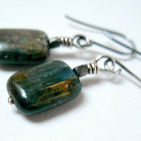 Blue Kyanite Earrings Sterling Silver Jewelry
