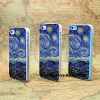 aj42 vincent van gogh starry night classic hard transparent clear Skin Cover Case for Apple iPhone SE 4 4s 5 5s 5c 6 6s Plus