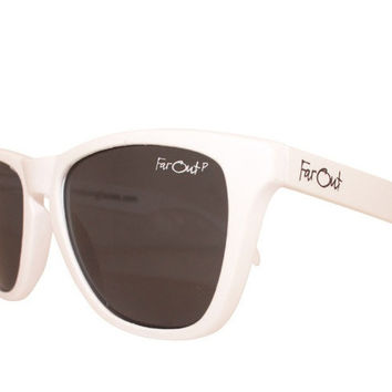 White Polarized Black Lens