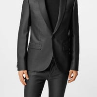 Charcoal Crepe Ultra Skinny Fit Suit - Mens Suits - Suits - TOPMAN USA