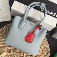 One-nice™ MCM blue Women Shopping Leather Handbag Tote Satchel H-MY-JDCHH