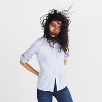 Lakeside Peplum Shirt in Stripe