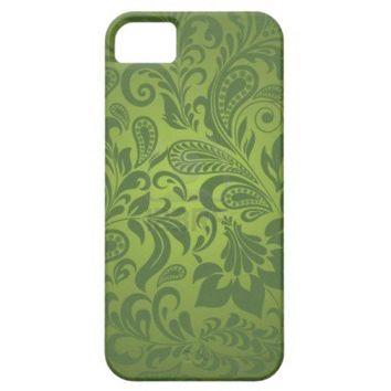 Green Paisley Seamless Background Graphic Art iPhone 5 Case from Zazzle.com