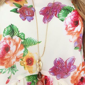 Undercover Treasure Necklace: Rose/Gold
