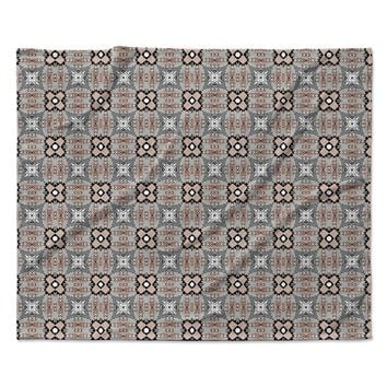 "Vasare Nar ""African Nomad"" Brown Pattern Fleece Throw Blanket"