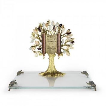 Gold Tree of Life Presentation Gift by Quest, Sculptures Size: 8Dx7.5H