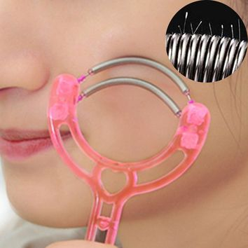 Top Sale 1 PC Handheld Double Springs Roller Face Hair Removal Epilator Hair Threader Facial Hair Removing Tool Random Color