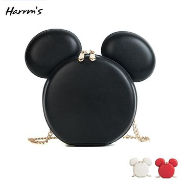 Mini Fashion Women Mickey Bag Designer Brand Handbags Cartoon Mouse Large Ears Shoulder Bags Portable Cartoon Messenger Bag Gift