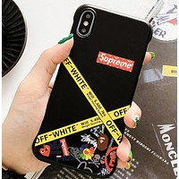LV & Off White & Supreme & Adidas & Nike & Stussy & Bape Aape & Play & Palace  Fashion New More Letter Print Women Men Protective Cover Phone Case