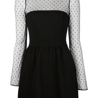 Red Valentino Sheer Panel Dress - Tootsies - Farfetch.com