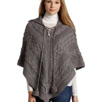 Dept Denim Department Women's Heavy Knit Poncho Sweater