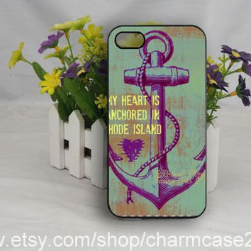 Anchor phone case cover, anchor charm samsung galaxy s3/s4 case,iphone case 4/4s,iphone 5/5s case,iphone 5c cover,Personalized