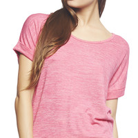 Short Sleeve Relaxed Dolman Top | Wet Seal