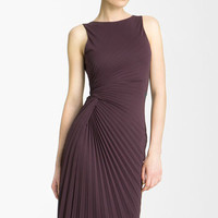 Pleated Sheath Dress by Halston Heritage at Kimberly Boutique