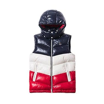 Moncler kith X PELAT Men's Navy/Red Down Vest SZ 5 US XL