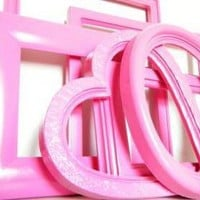 Pink Picture Frame Set on Luulla