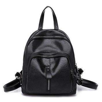 University College Backpack ZEITLIN Brand Women PU Leather s  Students Scool Bag For Girls Solid Color Simple Rucksack Sac A Dos S547AT_63_4