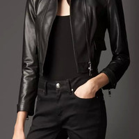 Black PU Faux Leather Jacket