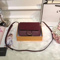 Chloe High-Grade Matte Leather With Leather Leather Strap Shoulder Bag