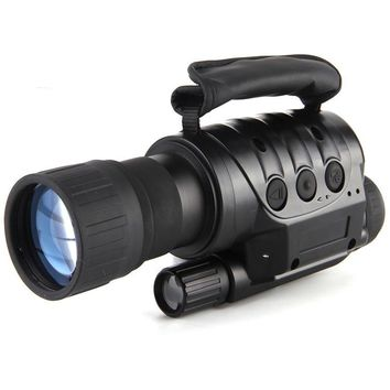 IPRee 6x50 Outdoor Digital Night Vision Telescope Infrared Ray HD Clear Vision Monocular Device Optic Lens Eyepiece Photography Recording
