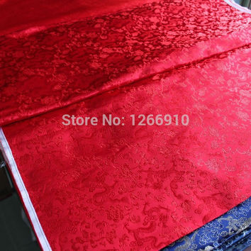 chinese silk brocade woven damask damask fabric cheongsam cushion red dragon Tapestry satin