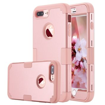 LONTECT ch-case05 case-01g iPhone 7 Plus Case Hybrid Heavy Duty Shockproof Full-Body Protective Case with Dual Layer