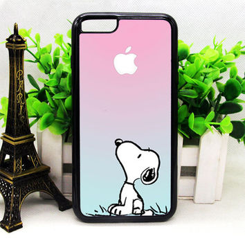 SNOOPY GRADIENT PINK MINT CUSTOME APPLE LOGO IPHONE 6 | 6 PLUS | 6S | 6S PLUS CASES