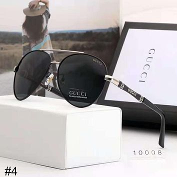 GUCCI 2018 trend new men's polarized large frame retro driving sunglasses #4
