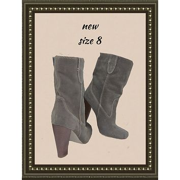 MIA suede boots - classy and comfy! - 8(b)