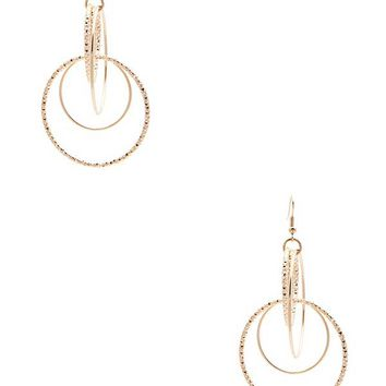 Interlock Multi-Hoop Earring at Guess