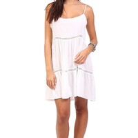 White Cut Out Flowy Dress at Blush Boutique Miami - ShopBlush.com