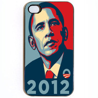 iPhone 4 4s Obama 2012 Hard iPhone Case Comes in Black or White