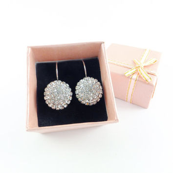 4 Pairs Bridesmaid Rhinestone Balls Earrings Bridesmaid Gifts Rhinestone Earrings Bridesmaid Earrings Crystal Earrings