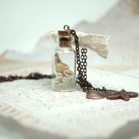Custom Message in the Bottle for Your Love and Special by Myvera