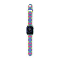 """Empire Ruhl """"Delilah"""" Red Pattern Apple Watch Strap"""