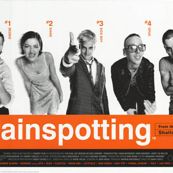 Trainspotting Movie Cast Poster 24x36