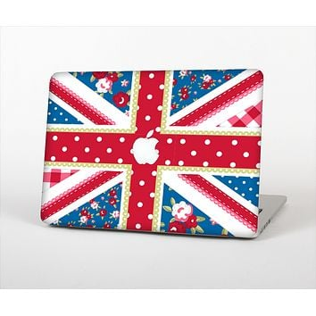 The Fun Styled Vector London England Flag Skin Set for the Apple MacBook Pro 13""