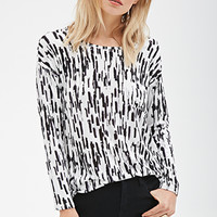 Abstract Brushstroke Pocket Top