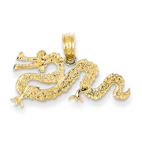 14K Dragon Pendant D4216