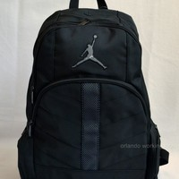 Nike Air Jordan Backpack Black Gray Book School Men Women Boy Girl Kids Bag 23