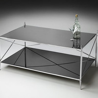 Butler Specialty Mirrored Double-Decker Cocktail Table - 2861220